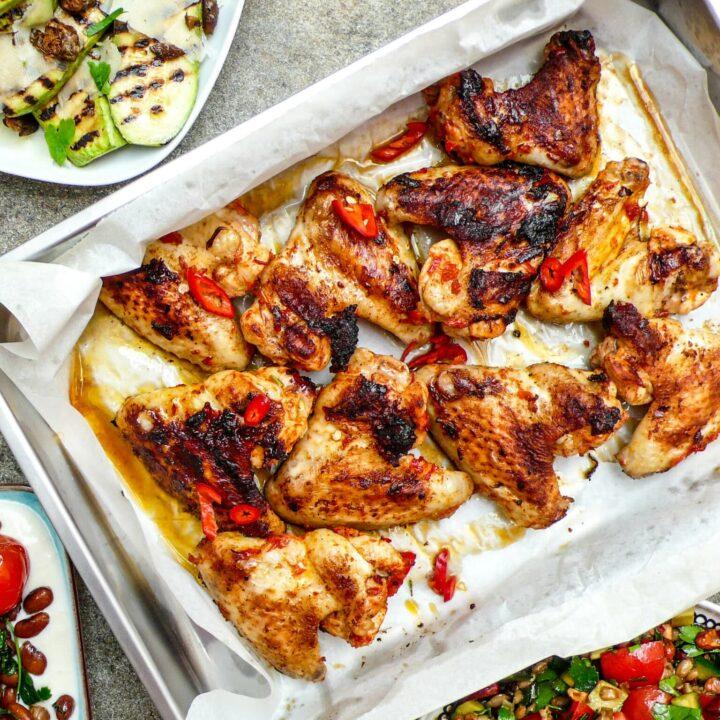 Harissa chicken wings