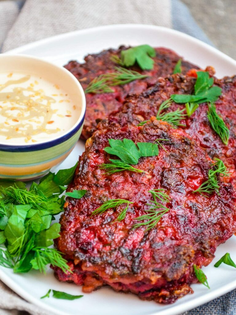 Raw beetroots from the market - Beetroot fritters recipe - A kitchen in Istanbul