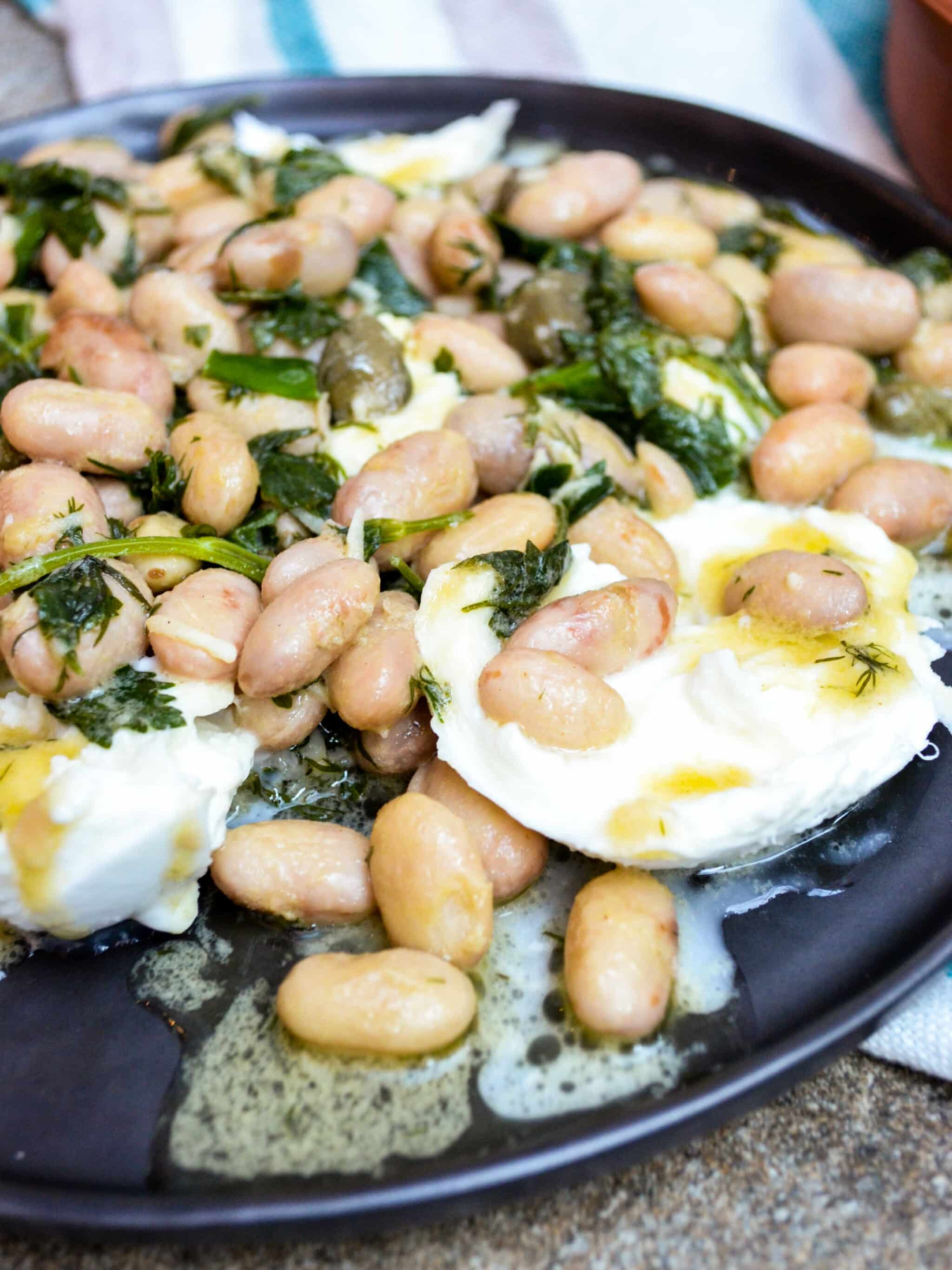 Borlotti beans with mozzarella - A kitchen in Istanbul