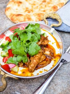 Chicken shawarma with tahini yoghurt - recipe / A kitchen in Istanbul