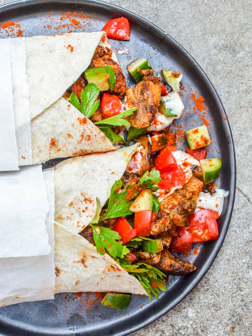 Chicken shawarma wrap - recipe / A kitchen in Istanbul