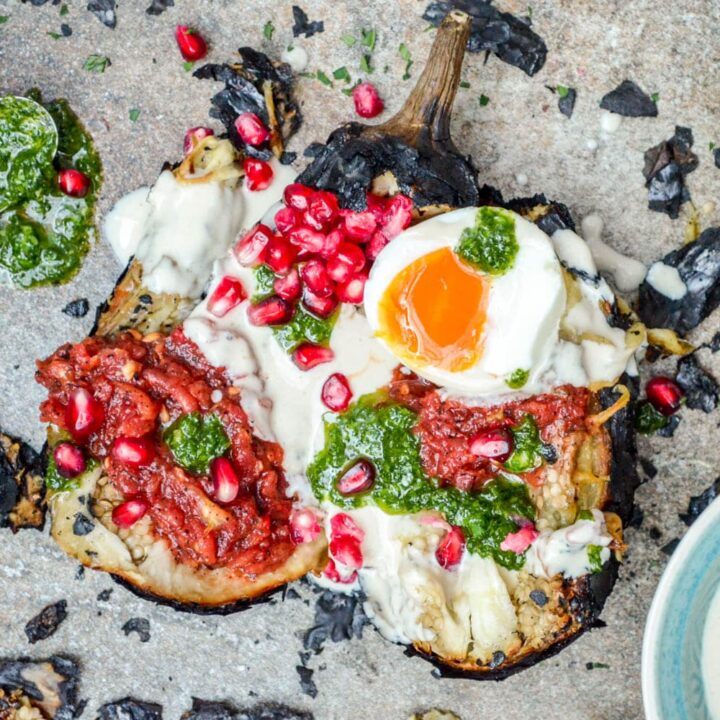 Aubergine with the works - recipe / A kitchen in Istanbul