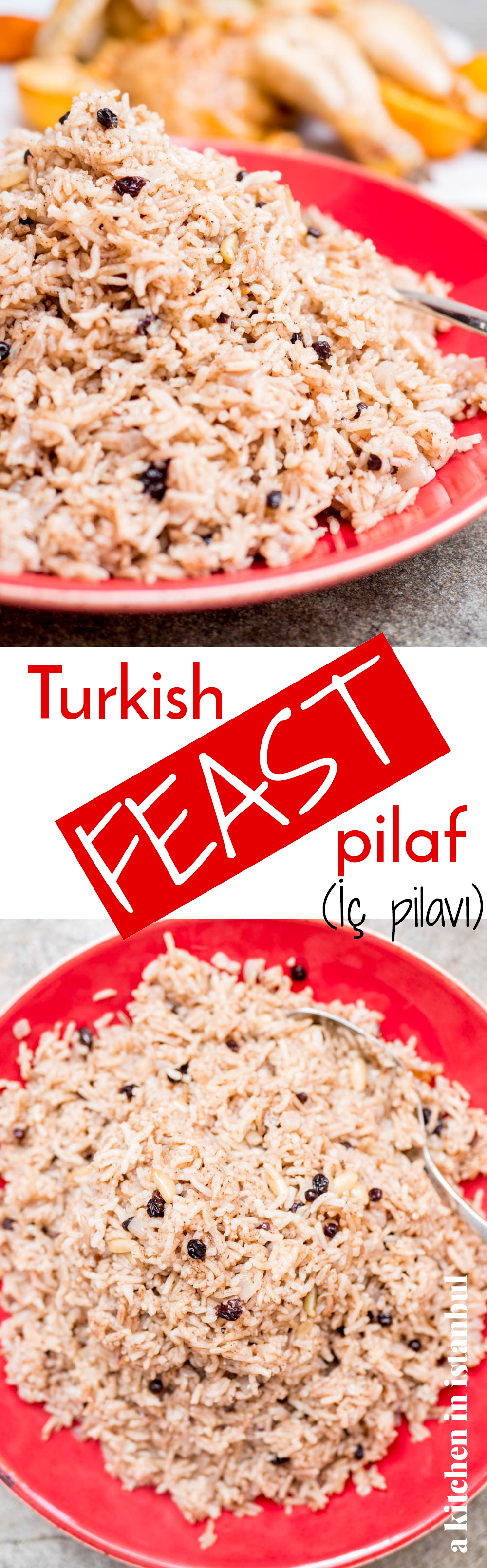 Turkish feast pilaf (İç pilavı) - recipe / A kitchen in Istanbul