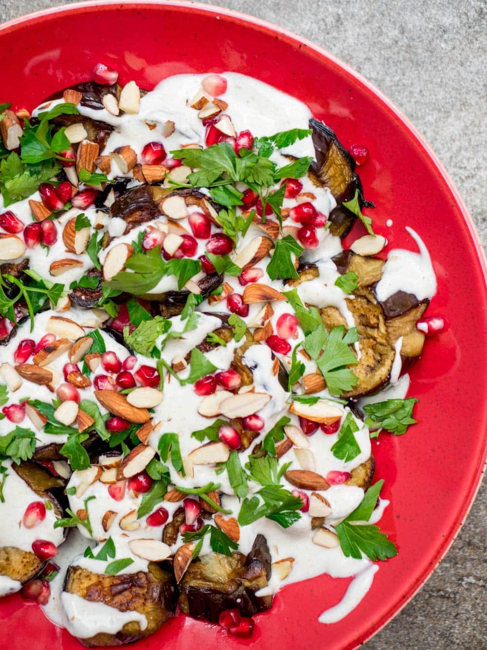 Aubergine with cumin yoghurt - recipe / A kitchen in Istanbul