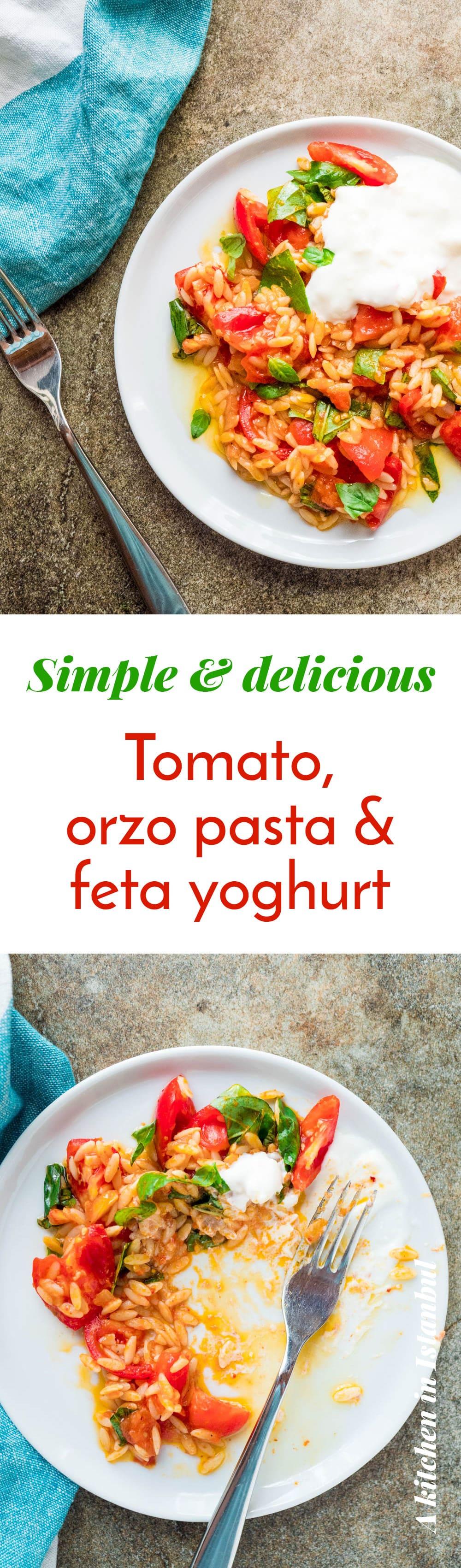 Tomato with orzo pasta & feta yoghurt - recipe / A kitchen in Istanbul