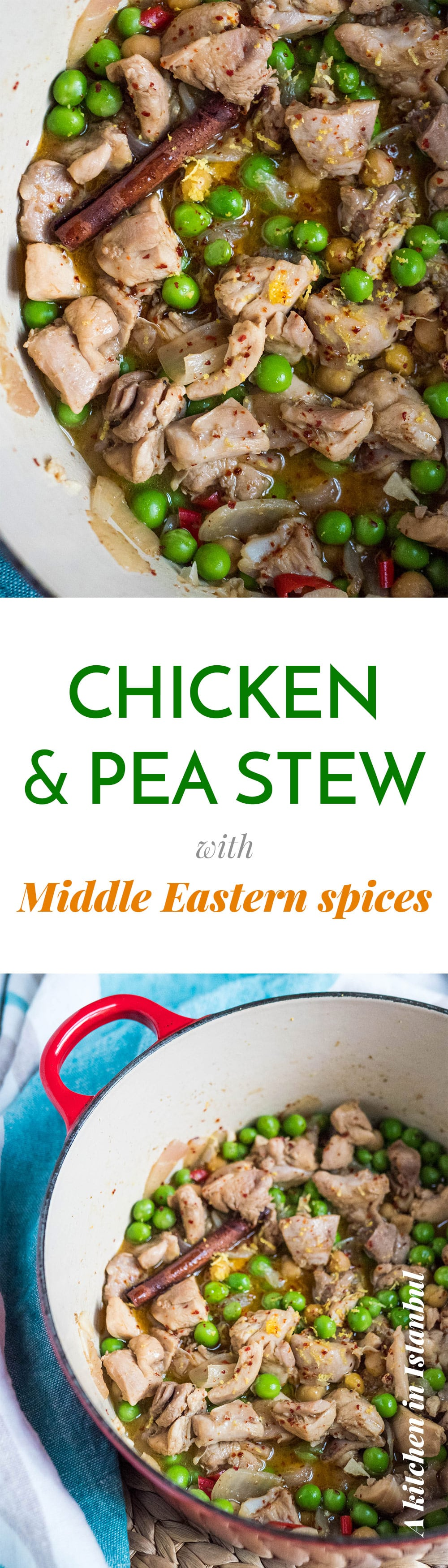 Chicken and pea stew with Middle Eastern spice - recipe / A kitchen in Istanbul