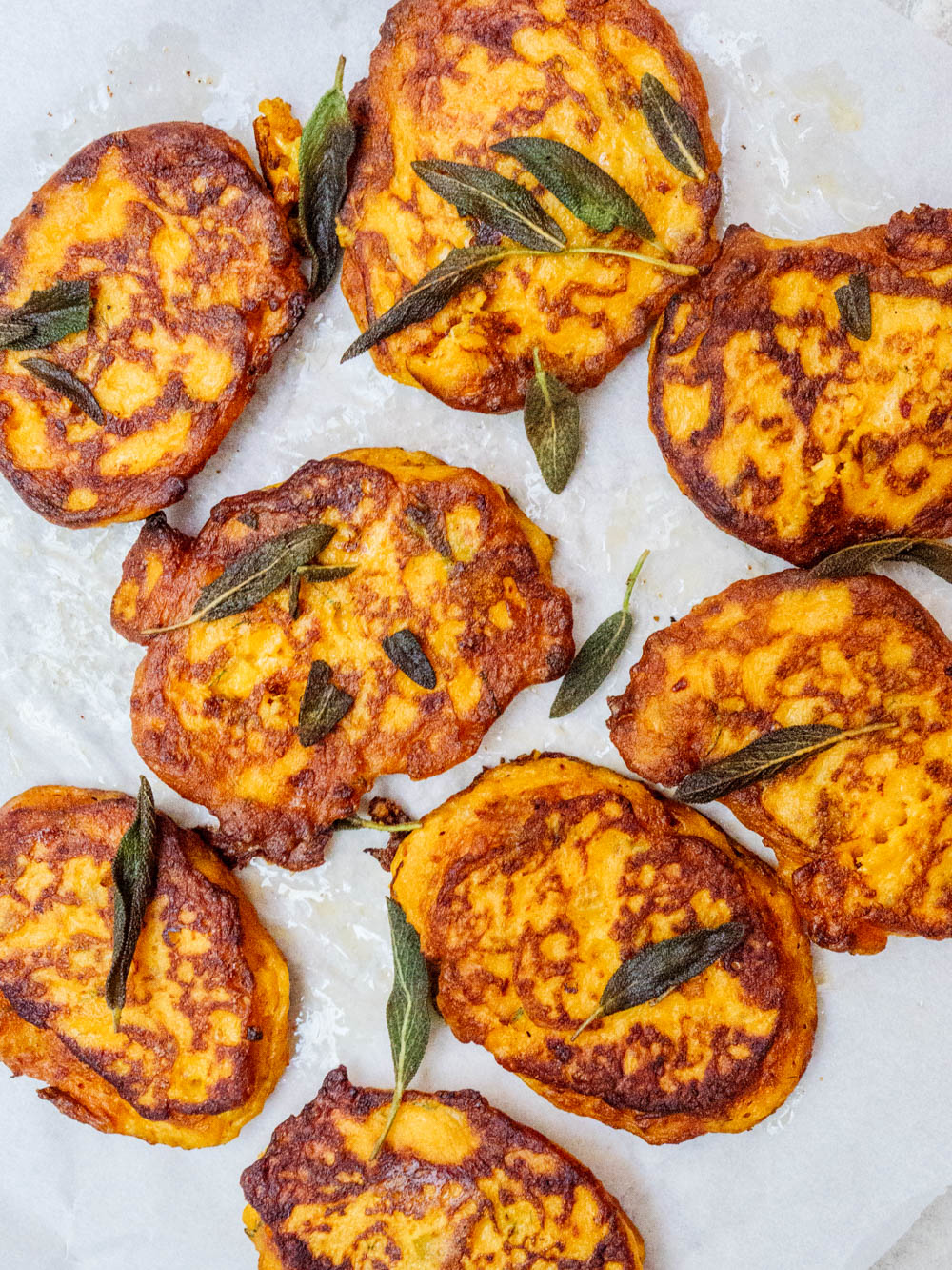 Pumpkin fritters - recipe / A kitchen in Istanbul