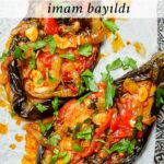 Imam bayildi - Turkish stuffed aubergines/eggplants - recipe